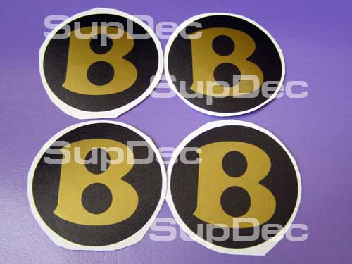 Bentley Gold 4 Satz Aufkleber