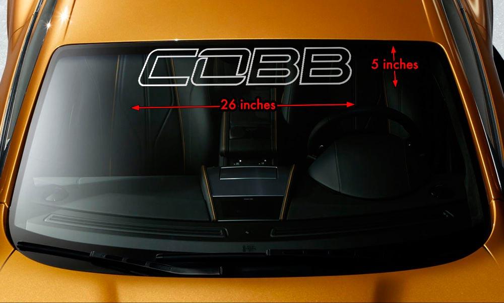 COBB MAZDASPEED SUBARU FORD NISSAN Windshield Banner Vinyl Decal Sticker 26