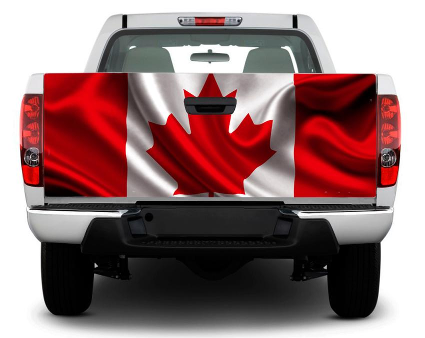 Canada flag tailgate decal sticker wrap pick up truck suv car