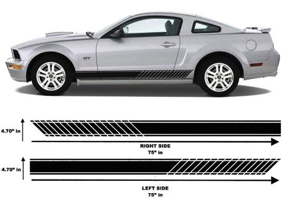 Chevrolet camaro ford mustang side stripes decals vinyl car truck graphics
