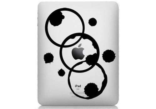 Coffee Rings IPad Decal Sticker