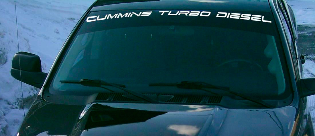 Decal for ram truck cummins turbo diesel windshield vinyl sticker