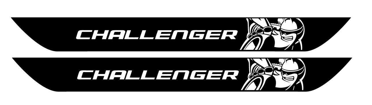 Dodge CHALLENGER SCAT PACK Typ Vinyl Türschwellenaufkleber Scatpack