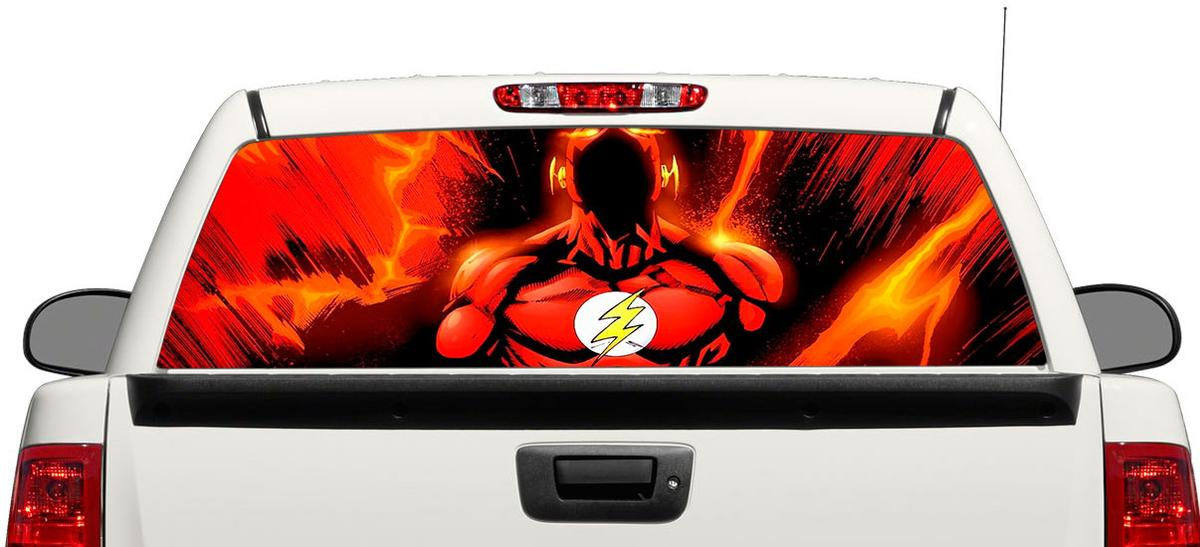 Flash DC Comics movies Rear Window Decal Sticker Pick-up Truck SUV Car #3