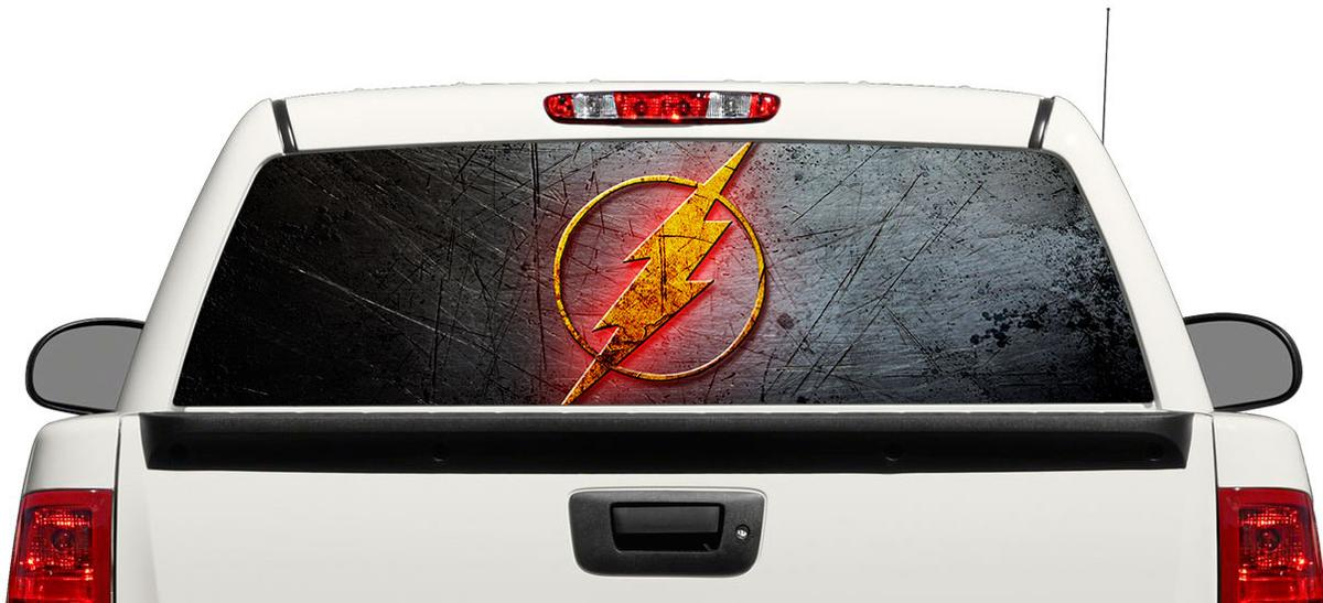 Product Flash DC Comics Movies Rear Window Decal Sticker Pickup - Window decal sticker