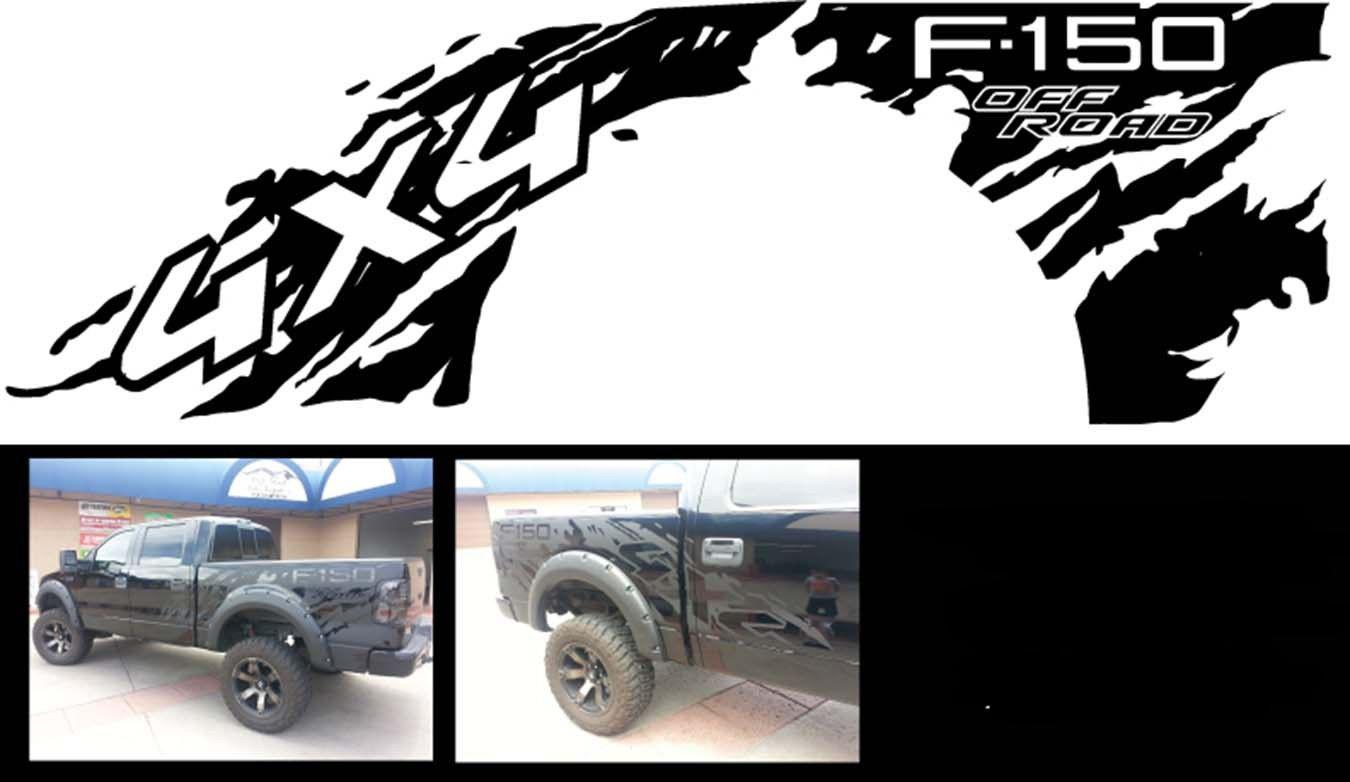 Product ford f 150 raptor 4x4 bed decals graphics stickers chatter
