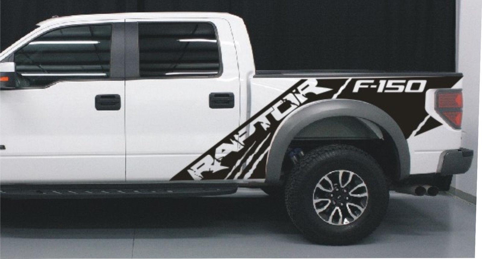 Product Ford Raptor SVT F Bedside Predator Vinyl Graphics - Ford raptor decals