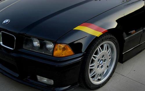 Deutsche Flagge Farben Streifen Motorhaube Aufkleber BMW Motorsport M3 M5 M6 X5