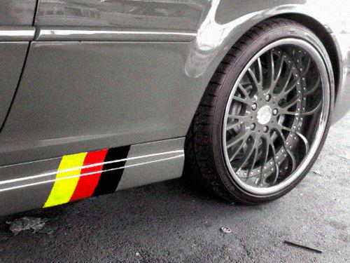 Deutsche Flagge Sideskirt Decals Kit PASST VW BMW AUDI MERCEDEZ