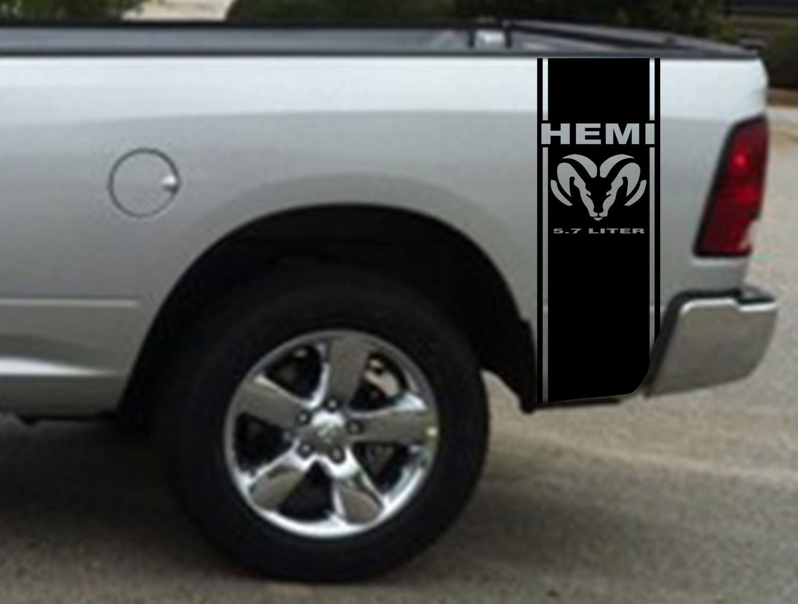 Product Hemi Liter Ram Stripe Dodge Ram Truck Vinyl Decal - Truck bed decals custombody graphicsdodge ram