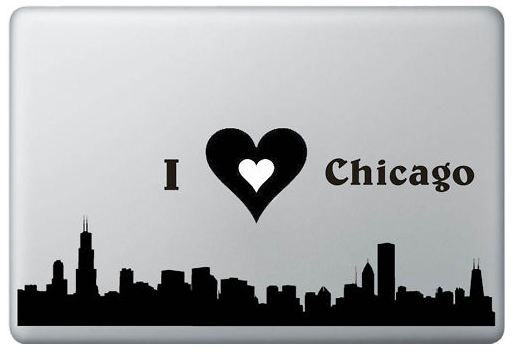 I love Chicago and MacBook Decal