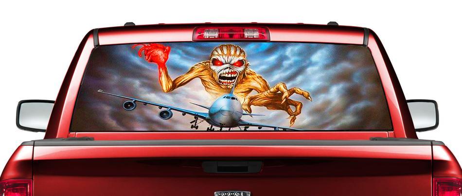 Product IronMaidenEddieflyairplaneRearWindowDecalSticker - Window decals for trucks rear