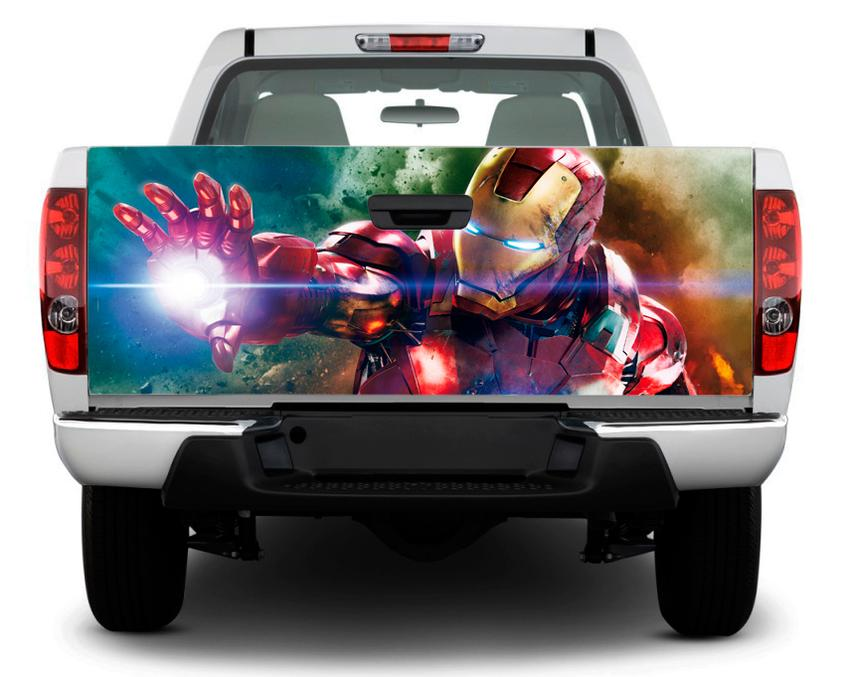product iron man art marvel tailgate decal sticker wrap pick  truck suv car