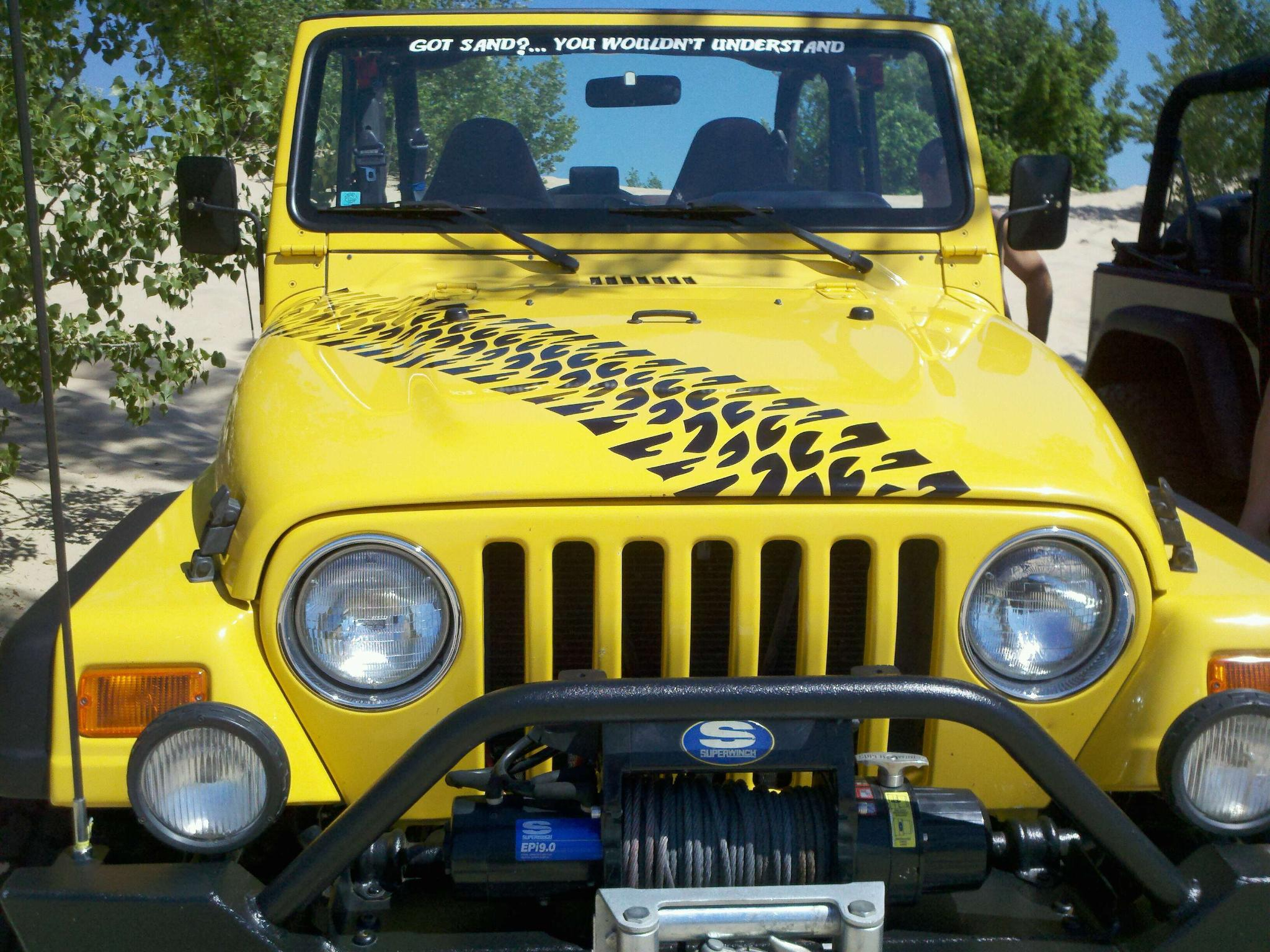 product: 2 jeep rubicon wrangler jk hood sticker decal