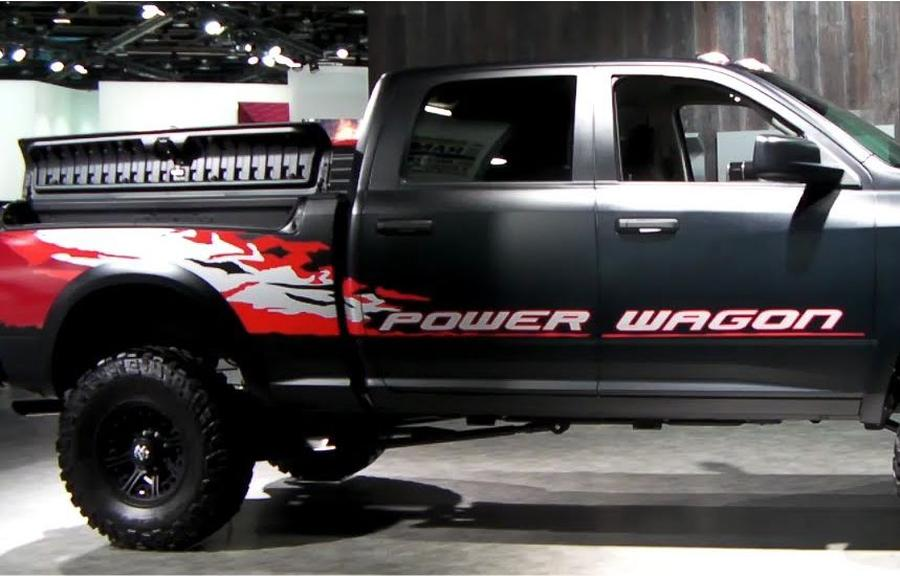 Power Wagon Stickers >> Product: KIT of 2013 Dodge Ram Power Wagon Hemi decal sticker for Tailgate driver and passenger side