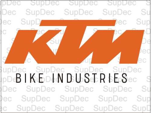 KTM bike industries Vinyl  Sticker Decal #1