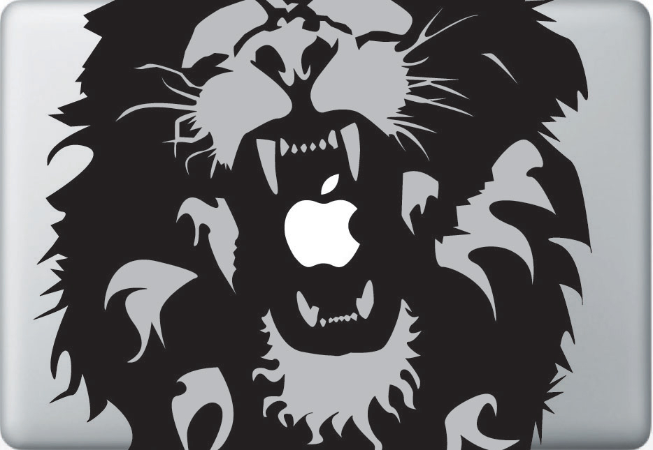 Large rasta lion apple macbook decal sticker
