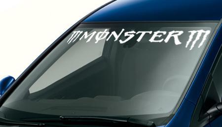 m monster m custom vinyl sticker windshield banner decal all col. Black Bedroom Furniture Sets. Home Design Ideas