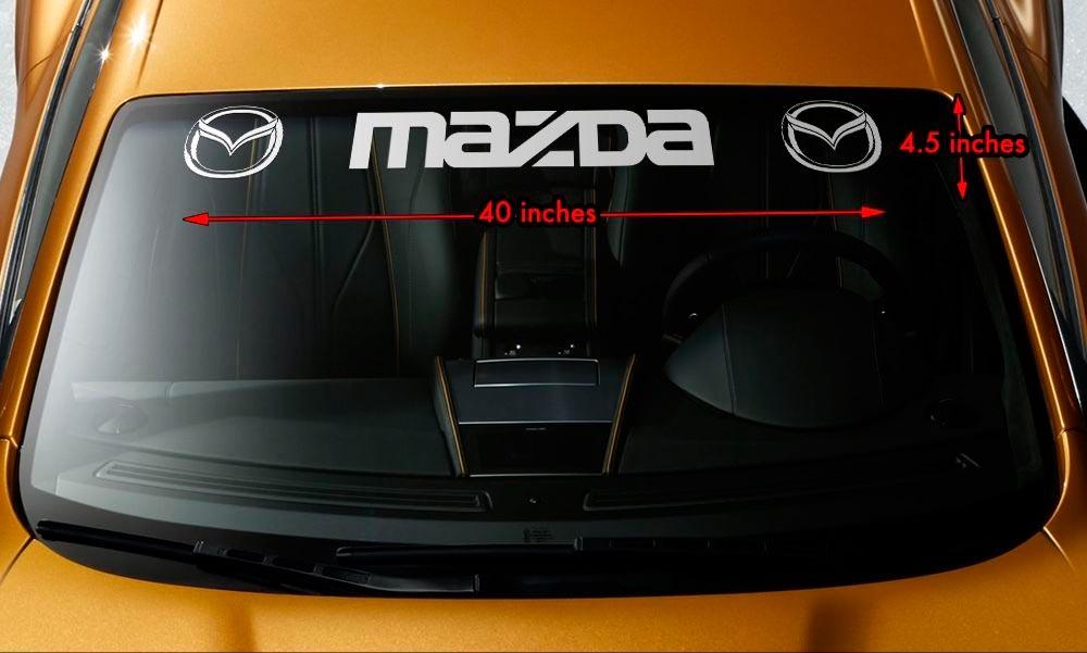 MAZDA STYLE #3 Windshield Banner Vinyl Long Last Premium Decal Sticker 40