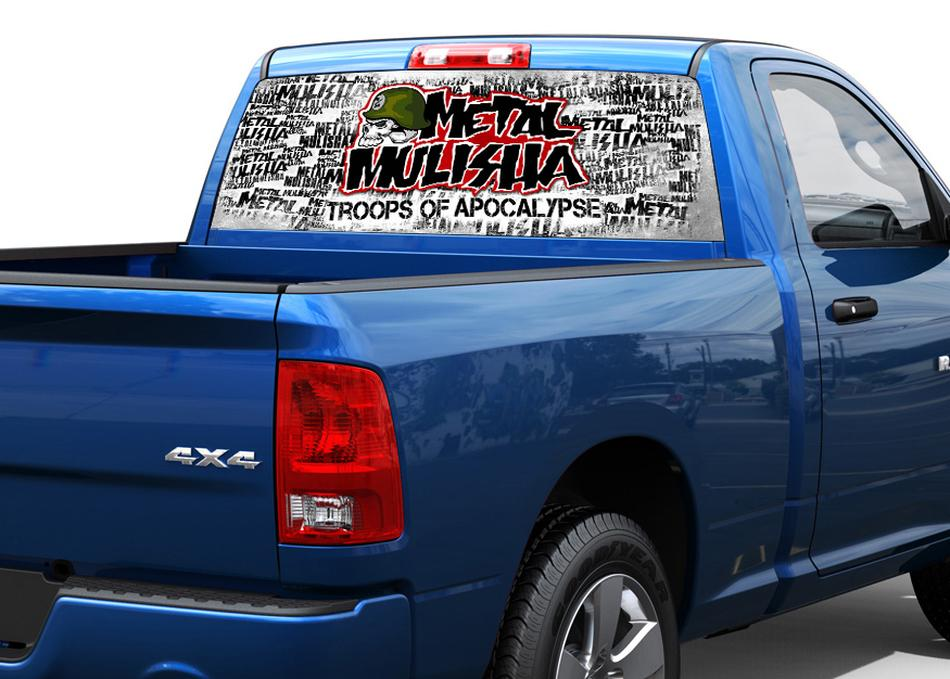 Metal mulisha rear window decal sticker pick up truck suv car 1