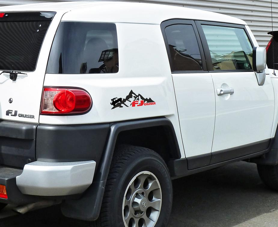 Fj Cruiser Sticker >> Product Pair Mountains Toyota Fj Cruiser Side Vinyl Stickers Decals