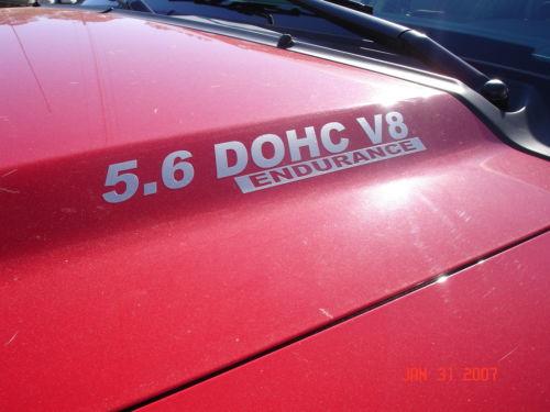 2 Sätze 5,6 l DOHC ENDURANCE Nissan Titan Hood Decals