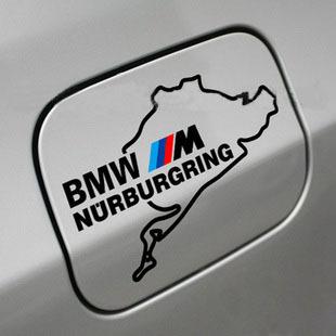 BMW M NURBURGRING M3 M5 M6 328 Fuel Tank Door Decal sticker embl