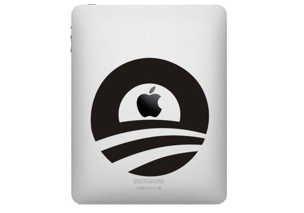 Obama Logo iPad  decal sticker