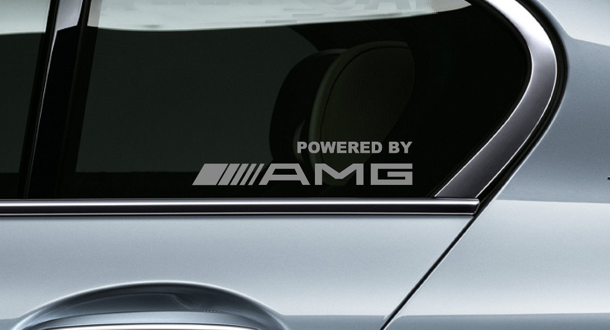 Product 2 powered by amg mercedes benz racing decal for A mercedes benz product sticker