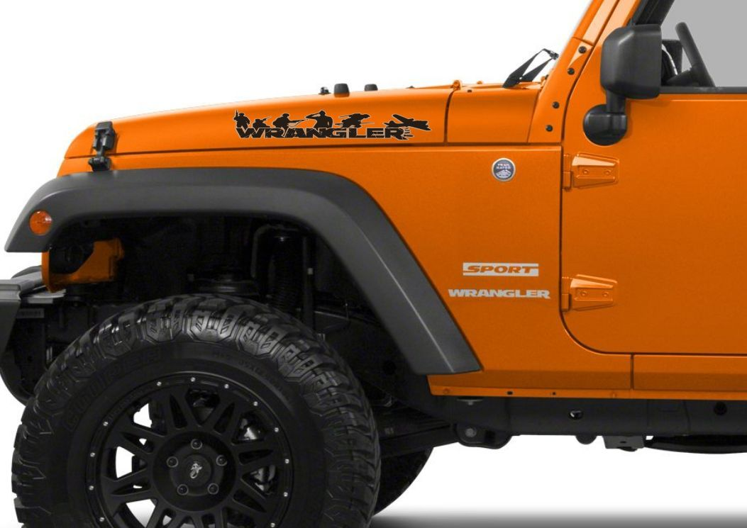 Product Pair Of Wrangler Decal Set Jeep Stickers Hood