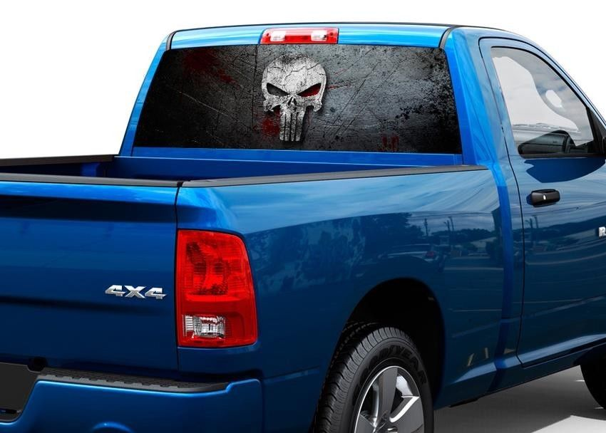 Product Punisher Skull Blood Metal Rear Window Decal