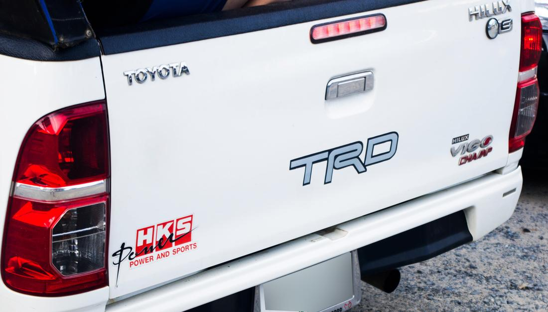 product rear stickers decals trd hks power and sports for