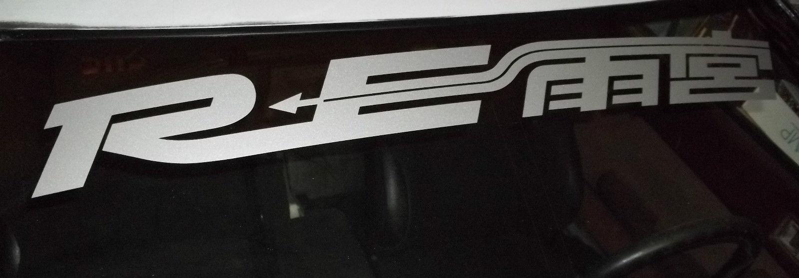 RE AMEMIYA Logo JDM Mazda RX7 RX8 Rotory Racing Motorsport Banner Streifen Auto Windschutzscheibe Vinyl Aufkleber Aufkleber