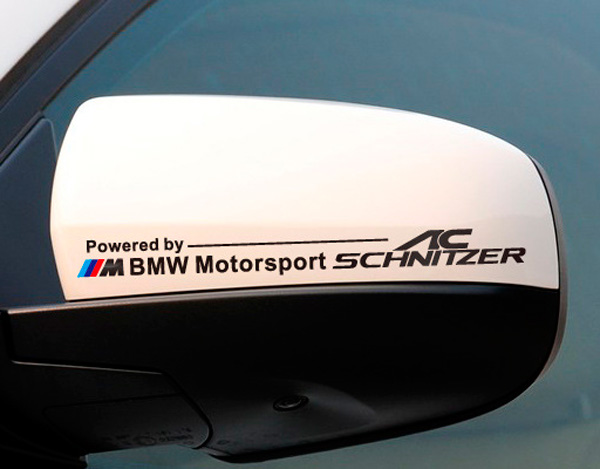 Pair AC SCHNITZER Rear View Mirror Sticker Body Decal