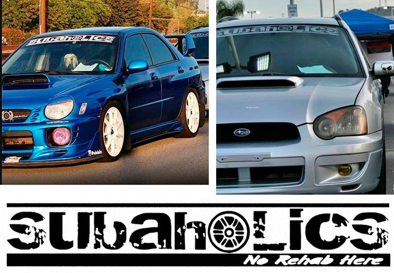 Product subaholics front windshield banner decal car stickers for subaru sports