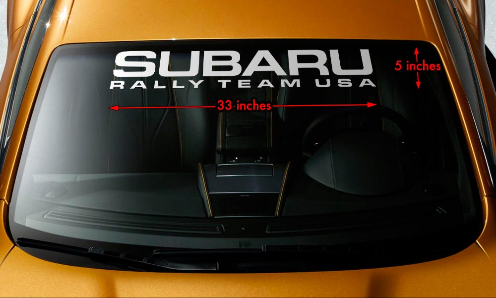 "Windshield Banner Vinyl Decal Sticker 33/""x5/"" for SUBARU WORLD RALLY TEAM WRX STI"