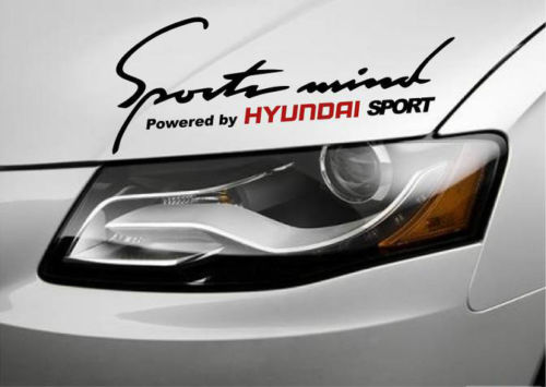 2 sports mind powered hyundai genesis sonata accent decal sticke
