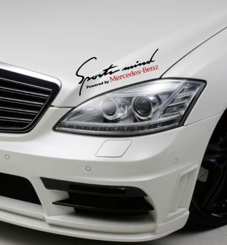 2 Sports Mind Powered by Mercedes Benz Sport Racing Decal sticke