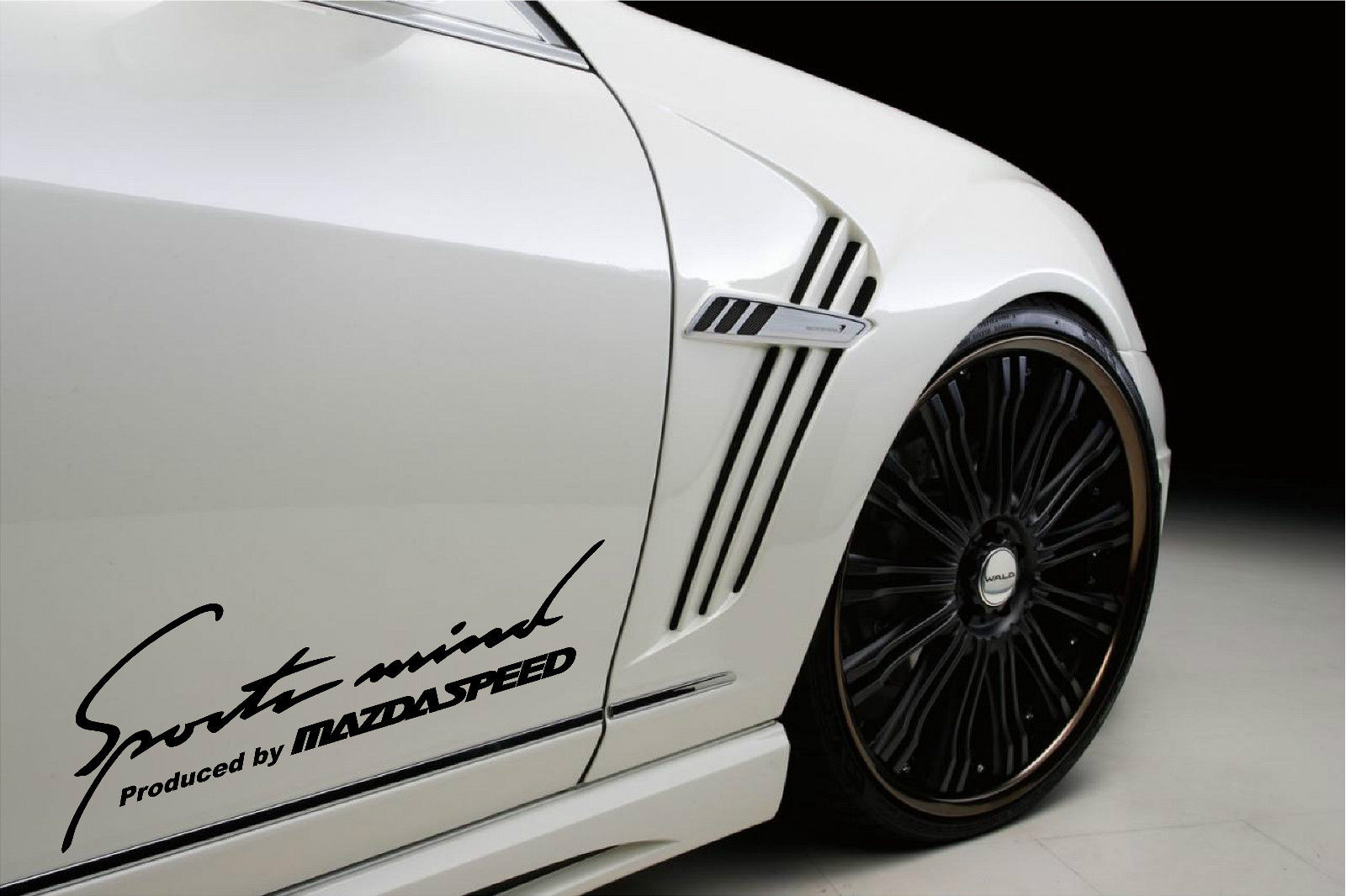 2 Sports Mind Produced by Mazdaspeed Decal sticker#2