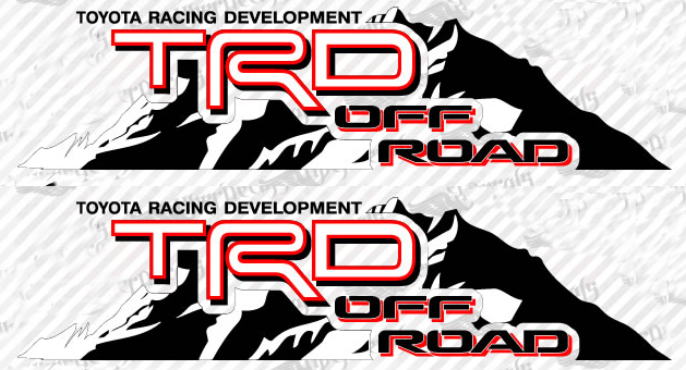 Product 2 toyota trd off mountain trd racing development side vinyl decal sticker 4