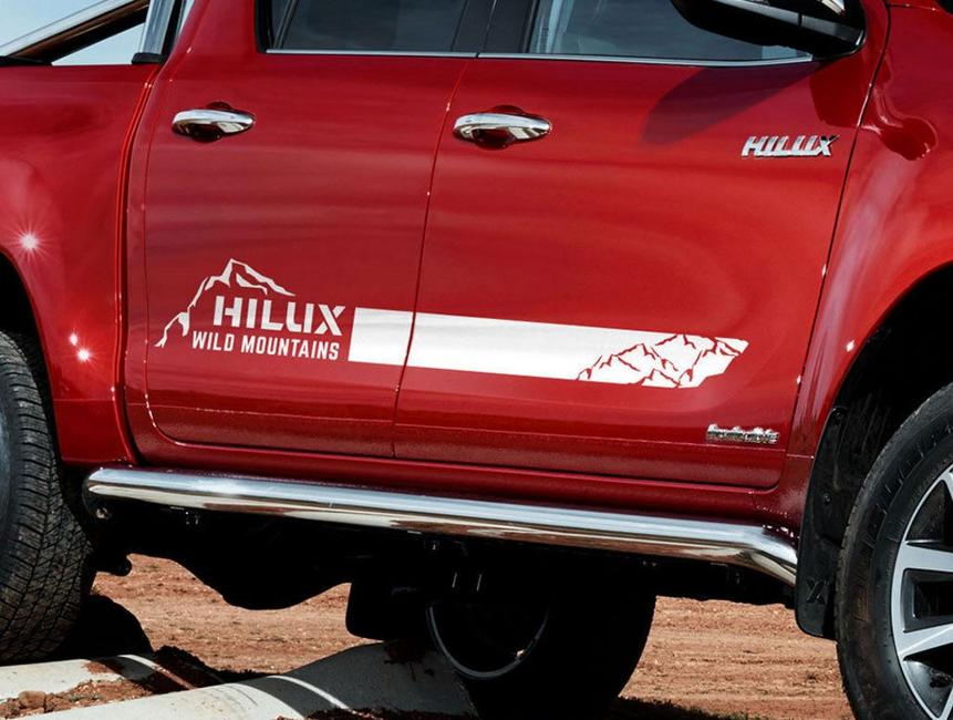 Toyota HILUX 2016 TRD Monuntains graphics side stripe decal