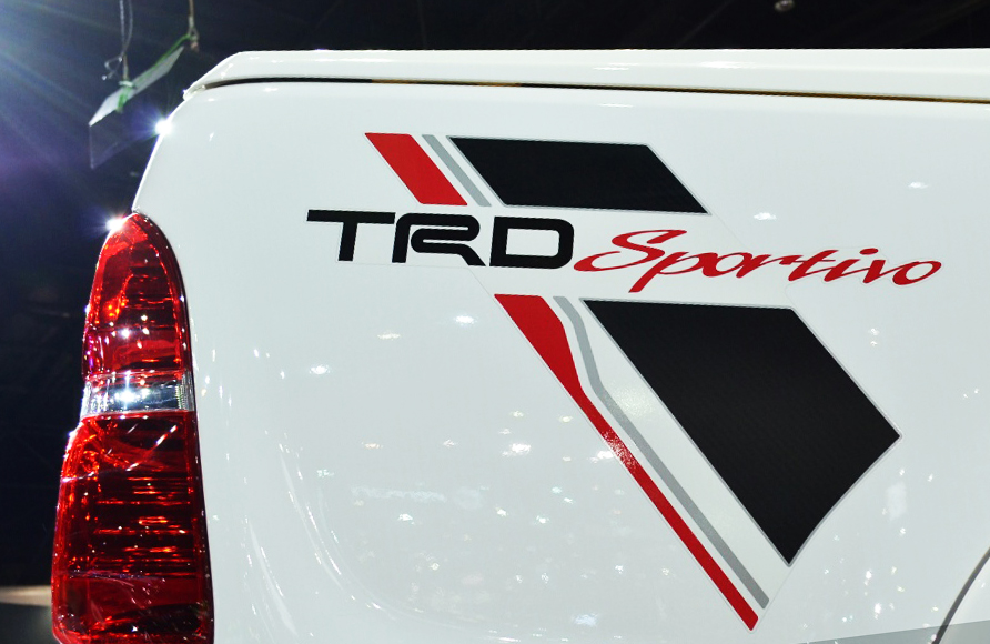 Rear sticker trd sportivo decal for toyota hilux vigo sr5 2005 2014