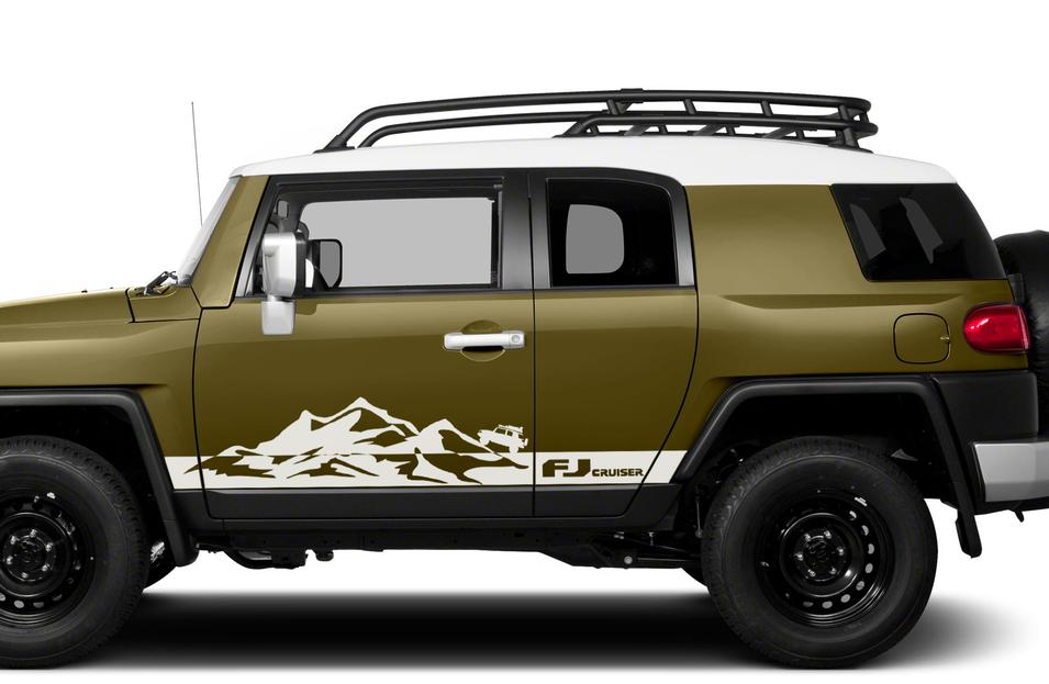 Fj Cruiser Sticker >> Product: Toyota FJ Cruiser Mountains Side Trim Strobe Stripes Vinyl Decal Graphics LOGO