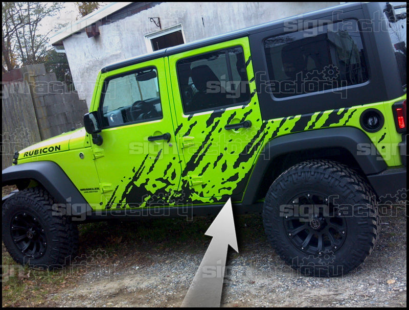 Universal vinyl splash decal ford f150 dodge ram jeep cherokee