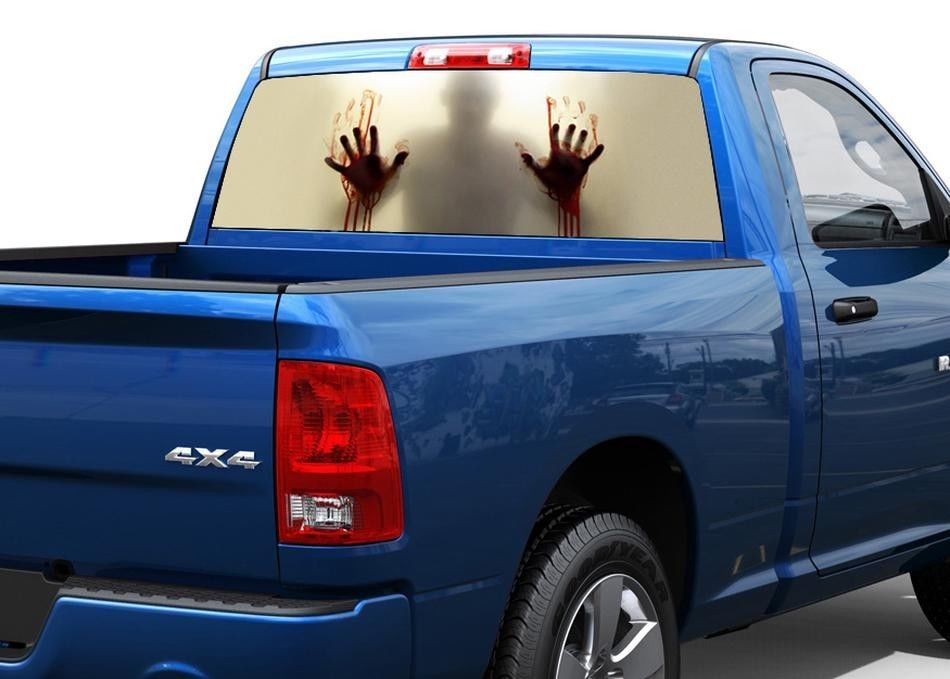 Graphics For Pickup Rear Glass Graphics Wwwgraphicsbuzzcom - Rear window hunting decals for trucksamazoncom truck suv whitetail deer hunting rear window graphic