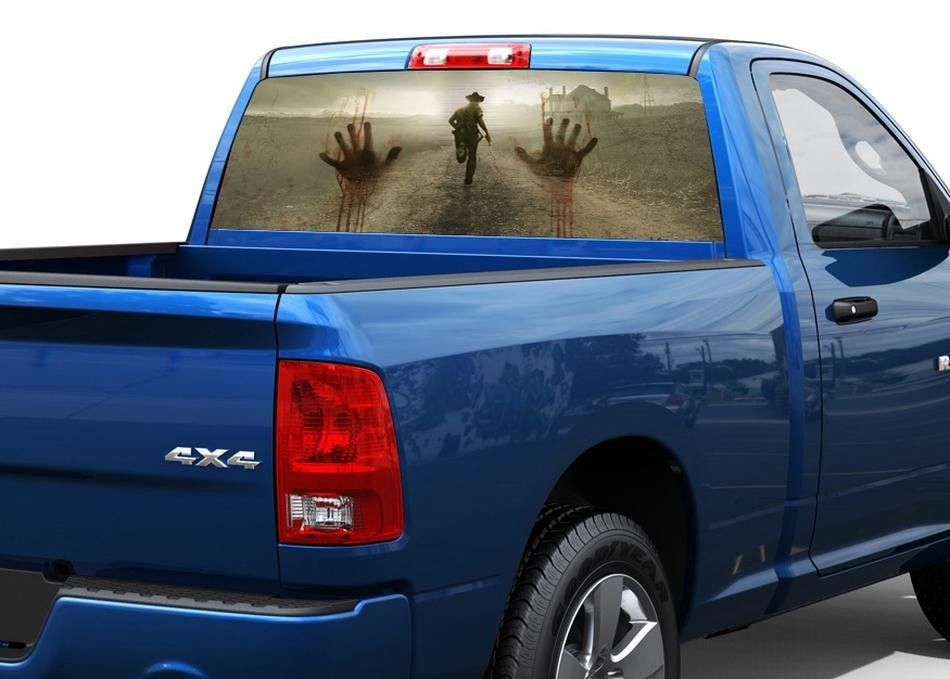 6afa7205c8 Product  Zombie hands horror Rear Window Decal Sticker Pickup Truck ...