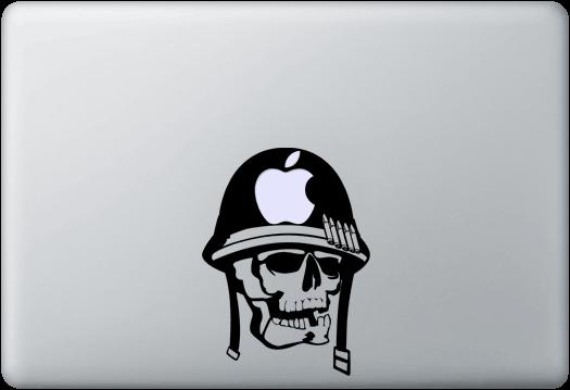 Army Skull MacBook Aufkleber Aufkleber