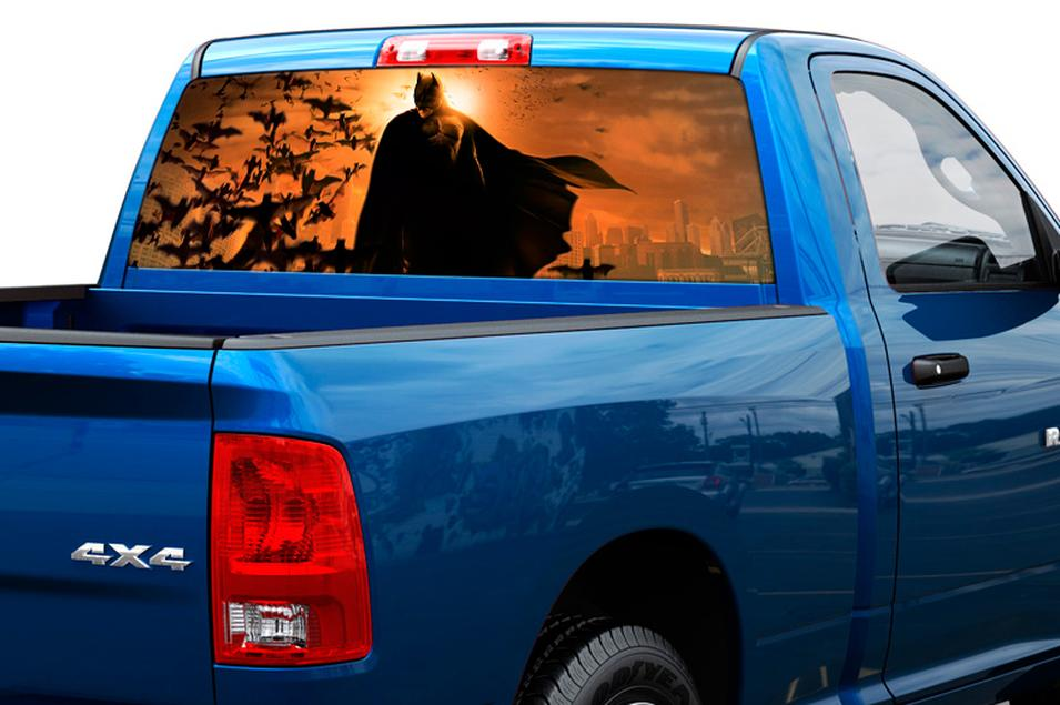Batman Dark Knight city movies Rear Window Decal Sticker Pick-up Truck SUV Car 2