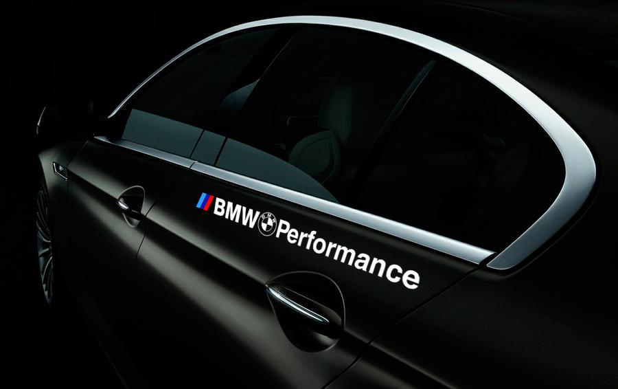 Bmw performance logo vinyl stickers decals for m3 m5 m6 e36 fits all models