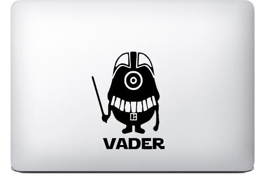 Darth Vader Minion Aufkleber MacBook